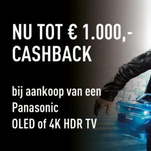 Tot wel €1000,- cashback bij Panasonic!